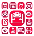 color auto icons set vector image
