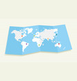 World map with GPS location pushpins EPS10 file vector image