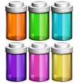 Colourful transparent bottles vector image
