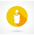 Flat candle icon vector image
