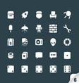 Set of Office and Media Icons vector image vector image