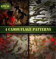 Set of 4 seamless camouflage pattern EPS 10 vector image
