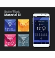 Weather widgets UI and UX material Kit vector image