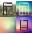 calculator icon on blurred background vector image