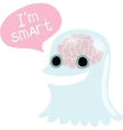 Halloween ghost character with bubble speech vector image