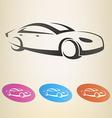 modern car outlined symbol vector image