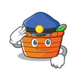 police fruit basket character cartoon vector image