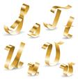 Ribbon alphabet S T U V vector image