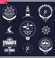 Set of vintage marine logos logotypes and badges vector image