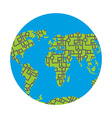Urbanization earth Roads have filled in all vector image