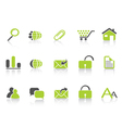 web icon green nature series vector image
