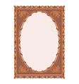 Wooden frame carved oak leaf vintage vector image