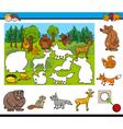 cartoon activity for kids vector image