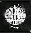 tomato cutting scheme chalk vector image