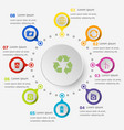 infographic template with ecology icons vector image