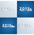 new year trucks vector image vector image