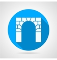 Flat icon for arch vector image