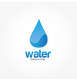 Blue Water drop abstract design template vector image