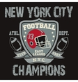 New York Sport Typography Football Logo vector image