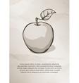 Apple on grunge background Vintage Label Logo vector image