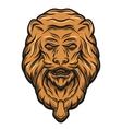 Golden lion head door knocker vector image vector image