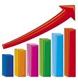 bar graph-increase diagram vector image