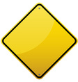 Blank glossy road sign vector image