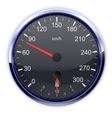 Car speedometer in kilometers vector image