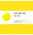 card with watercolour circle in yellow vector image