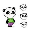 character panda vector image