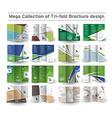 Corporate Business Tri-fold Brochure Design vector image
