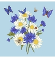 Greeting Card with Blooming Chamomile vector image