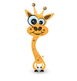 hilarious cartoon giraffe vector image