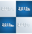 new year trucks vector image