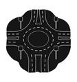 road single icon in black styleroad symbol vector image