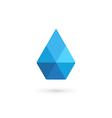 Water drop symbol crystal logo design template vector image