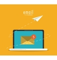 envelope and laptop icon Email design vector image