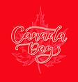 happy canada day card handwritten vector image