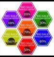 stickers sales vector image