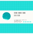 card with watercolour circle in aqua blue vector image