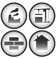 construction set with industrial icons vector image