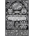 Vintage Retro Labels on Blackboard vector image