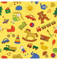 Colorful seamless pattern childish doodles vector image vector image
