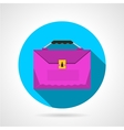 Round flat icon for pink briefcase vector image
