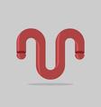 Abstract logo Maroon 3D Bent trumpet Business vector image