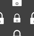 Lock sign icon Locker symbol Seamless pattern on a vector image