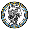 Decorative Zodiac sign Aries vector image vector image