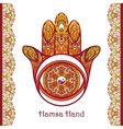 Colored Hamsa Hand vector image