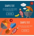 Barbecue grill horizontal website templates vector image