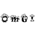 Cartoon monster text OMG vector image